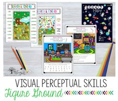 Occupational Therapy resources that address the visual perceptual figure ground skills. Visual Perceptual Activities, Cognitive Activities, Figure Ground Perception, Sensory Motor, Teachers Aide, Working Memory, Pediatric Ot, Visual Aids, Occupational Therapy