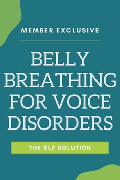 Belly breathing is an essential skill for working on voice. This video explains/describes how to help kids have biofeedback for breathing with their belly.