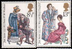 Literary Stamps: Austen, Jane (1775–1817)