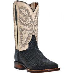 DP2805 Dan Post Men's Denver Caiman Western Boots - Black www.bootbay.com