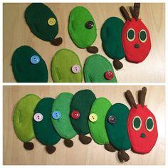 ボタンつなぎの一例,赤ちゃんおもちゃ,手作り,フェルト