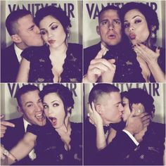 Channing Tatum and Jenna Dewan. This is the picture I have in my head of how it should be. They look so perfectly happy and goofy together.