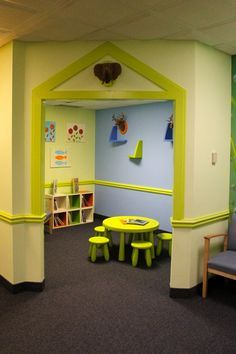 Holliston Pediatric Group by CHIC redesign.  Kid friendly waiting room for pediatric practice and hospital