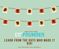 Learn from the people who failed and achieved success. #talesoflegends #thecofounder