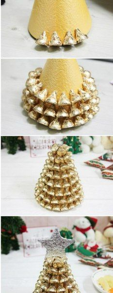 новогодняя елка из конфет