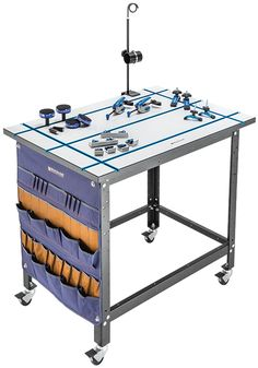 The Rockler T-Track table top is versatile and allows for fast, stable sawing, sanding, routing or assembly!