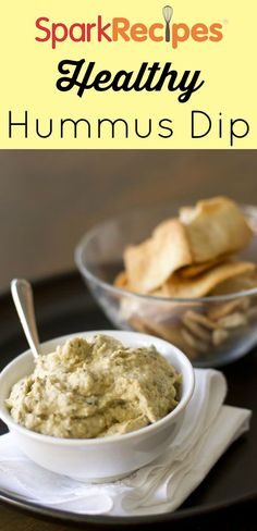 Yummy Hummus Recipe. Hands-down, this is the best hummus I've ever made myself! Everyone was begging me for the recipe. | via @SparkPeople #hummus #party #dip #recipe