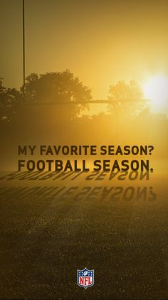 Some people prefer Spring, some prefer Summer, but if you're a football fan, there's only one season you care about. #Football season. Follow the action all season long with #NFL Mobile from #Verizon.