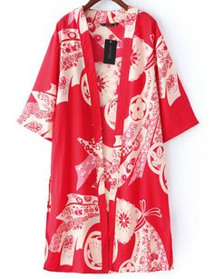 Japanese Style Kimono in Print - US$14.40 - ClothesCheap.com #CasualKimono #WomensKimono #CheapKimono #StylishKimono #VintageKimono #CasualWear #Womenswear