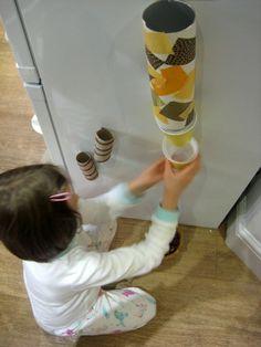 DIY magnetic marble run | BabyCentre Blog