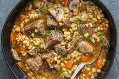 Beef Barley Soup Beef Recipes, Soup Recipes, Cooking Recipes, Recipies, Beef Barley Soup, Crock Pot Soup, Soup And Sandwich, Slow Cooker Beef, Kitchen Recipes