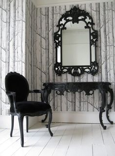 The French Bedroom Company :: Tables - Tables consoles - Sassy Boo… (clipped to . Dark Home Decor, Goth Home Decor, Gypsy Decor, Gothic Room, Gothic House, Gothic Bedroom Decor, Gothic Chair, Gothic Interior, Interior Design