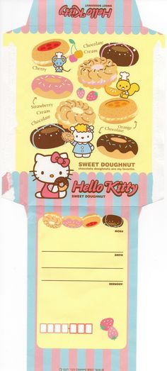 Hello Kitty - sweet doughnut envelope