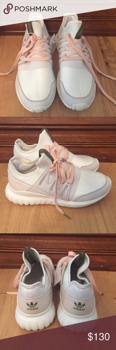 Brand new Adidas Tubular Radial shoes Never worn- customized them and they don't fit. They are a size 9, but fit more like a 10. Adidas Shoes Sneakers