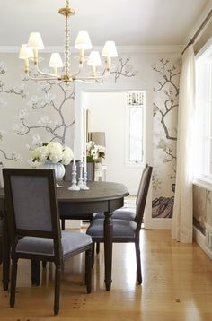 'Magnolia' design in special colourway | de Gournay