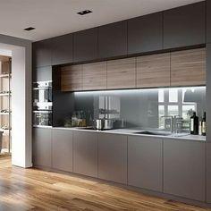 Kitchen Cupboard Designs, Kitchen Room Design, Kitchen Layout, Interior Design Kitchen, Kitchen Decor, Kitchen Sets, Minimal Kitchen Design, Contemporary Kitchen Design, Modern Kitchen Designs