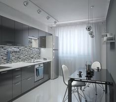 10 thousand likes, 704 comments - Interior Design Ideas ( . Kitchen Room Design, Kitchen Cabinet Design, Modern Kitchen Design, Home Decor Kitchen, Home Kitchens, Modern Kitchen Interiors, Modern Interior, Interior Design, Cuisines Design