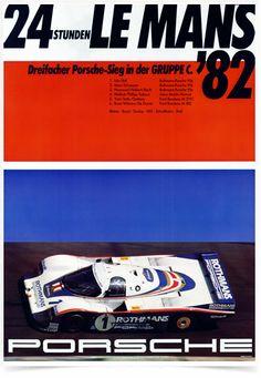 Poster Carros Porsche 24 Horas Le Mans 1982 - Decor10