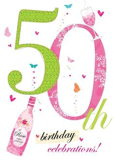 Abacus Cards is a UK based publisher of greeting cards, social stationery and gift wrap. Happy 50th Birthday Wishes, Birthday Wishes Flowers, Birthday Msgs, 50th Birthday Cards, Happy Birthday Sister, Birthday Numbers, Art Birthday, Happy Birthday Images, Birthday Pictures