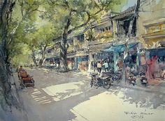 Hoang Dieu Street 3, Hoi An (watercolor, 54x74 cm)