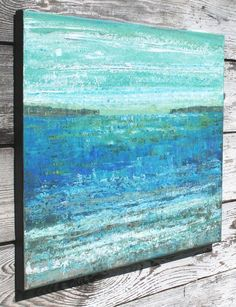 abstract art abstract painting beach by SageMountainStudio on Etsy