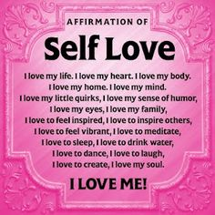 Self Love - what's it mean to you?