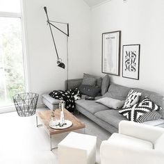 Cozy living room with Ikea 'Söderhamn' sofa @noebloghome""