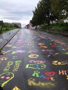 Streetart in Hamar, Norway. Norway, Sidewalk, Country, City, Pictures, Beautiful, Walkway, Photos, Rural Area
