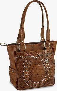 Tooled Leather Western Purse