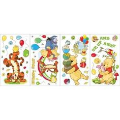 Disney 23-Piece Winnie the Pooh Wall Decals-WC1284988 at The Home Depot