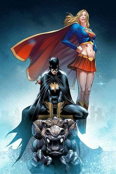 Worlds Finest: Kara Zor-El ( Supergirl ) & Barbara Gordon ( Batgirl ).