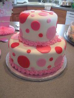 Polka dot cake - change colors