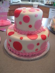 Polka dot cake - change colors