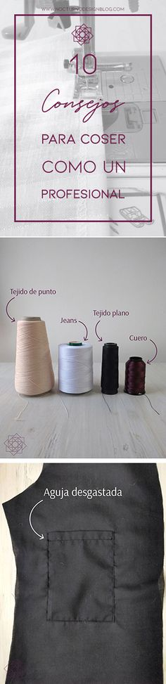 10 consejos para coser como un profesional. – Nocturno Design Blog Handmade Tale, Design Blog, Love Sewing, Couture, Handicraft, Stitch Patterns, Fabric, Middle Ages, Window Curtains