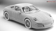 porsche 911 r 2017 3d model max obj 3ds fbx c4d lwo lw lws 16