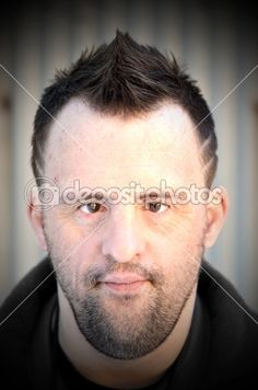 Man with Down syndrome - fashion portrait