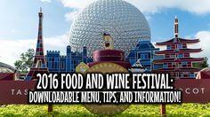 DOWNLOADABLE AND PRINTABLE DISNEY EPCOT FOOD AND WINE MENU!