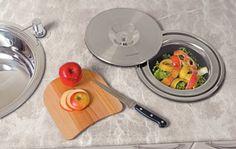 Cozinha - Lixeira de pia embutida