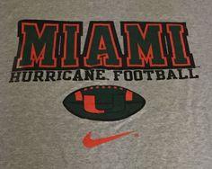 Vintage Miami Hurricanes Nike Gray X-Large Short Sleeve Tee T-Shirt XL H1 #Nike #MiamiHurricanes