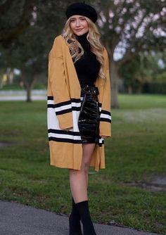 Multicolor Stripe Open Front Drop Shoulder Long Cardigan