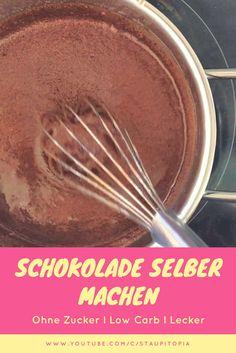 Vollmilch Schokolade selber machen OHNE Zucker, dafür aber mit Xucker Light bzw. Erythrit. Mit diesem Low Carb Rezept für zuckerfreie Schokolade könnt ihr sündigen ohne Reue!