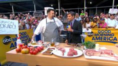 """Michael Vignola, a corporate executive chef at Strip House restaurants in Las Vegas and New York City, knows how to grill the perfect steak.Vignola, also a former """"Chopped"""" champion, appeared on """"Good Morning America"""" today to share his grilling tips for steaks this summer season. The chef also shared his favorite recipes for adding flavor to steak.Read his tips and recipes below, in his own words, to perfect your summer grilling menu.Vignola's Tips:1. When buying a steak from a butcher…"""