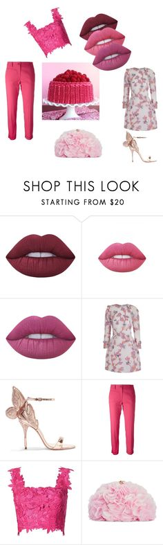 heavenly pleasure by aimiliakounadi on Polyvore featuring The 2nd Skin Co., Monique Lhuillier, Alberto Biani, Sophia Webster, Betsey Johnson and Lime Crime