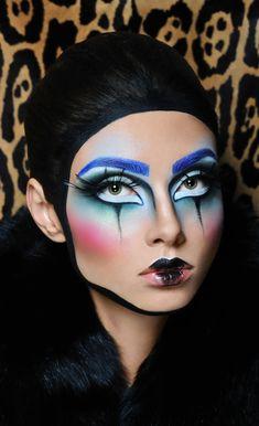 Circus Makeup, Clown Makeup, Fx Makeup, Costume Makeup, Halloween Face Makeup, Carnival Makeup, Makeup Geek, Maquillage On Fleek, Extreme Makeup