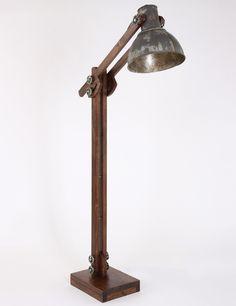 Stoere vloerlamp Light&Living Edward roest