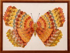 Teabag folding butterfly