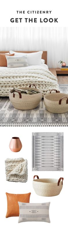 Warm palette, high-design details, and lots of texture. Six bedroom essentials to cozy up with this fall. Dream Bedroom, Home Bedroom, Master Bedroom, Bedroom Decor, Nursery Decor, Bedrooms, Bedroom Inspo, Decoration, Family Room