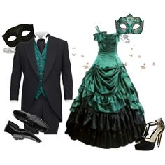 Masquerade couples | fashion look from February 2011 featuring Brian Atwood sandals ...
