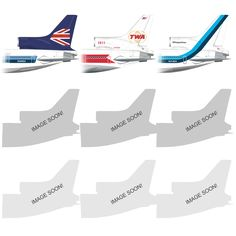 Lockheed Tristar  Artwork project (PRE-ORDER your shirt now!) $20.00  NORMALLY $25.00 DON'T MISS OUT!  Here is the long anticipated Lockheed Tri-Star L-1011 tail sections include real Registration Numbers.  Printed on 100% Cotton Tagless HANES T-Shirts.  (INTERNATIONAL ORDERS - Please Allow 2- 4 Business days to process)