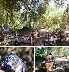 camp inspired wedding